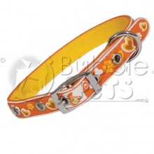 Collier 2D motif coeur Orange